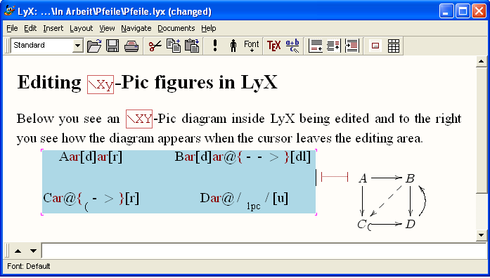 Using xy pic in ly x in this note we describe how xy pic can be used from inside ly x how diagrams can be created and edited we have tested the following using ly x version ccuart Images